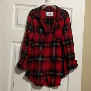 Justice button down flannel shirt